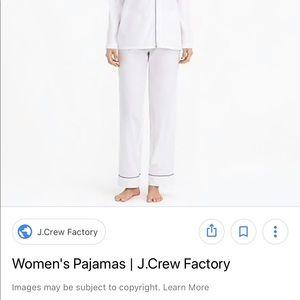 J Crew Factory Pajamas size Large